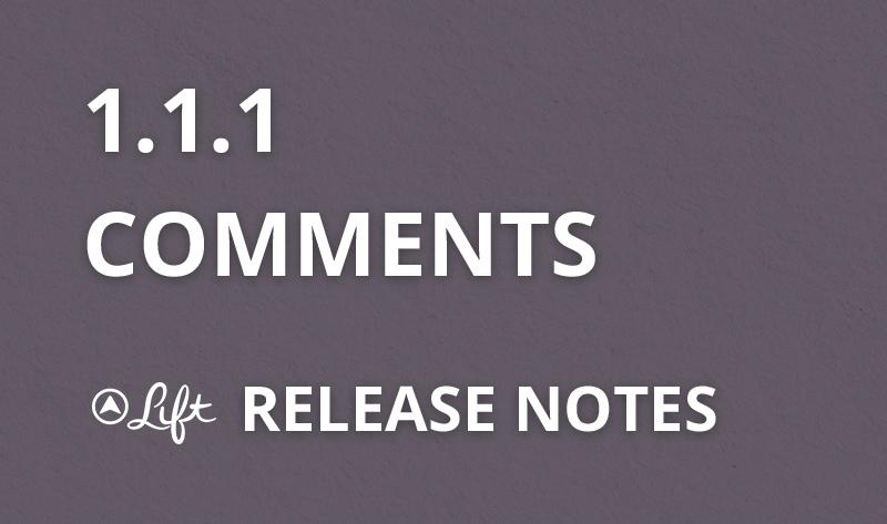 1.1.1 — Comments