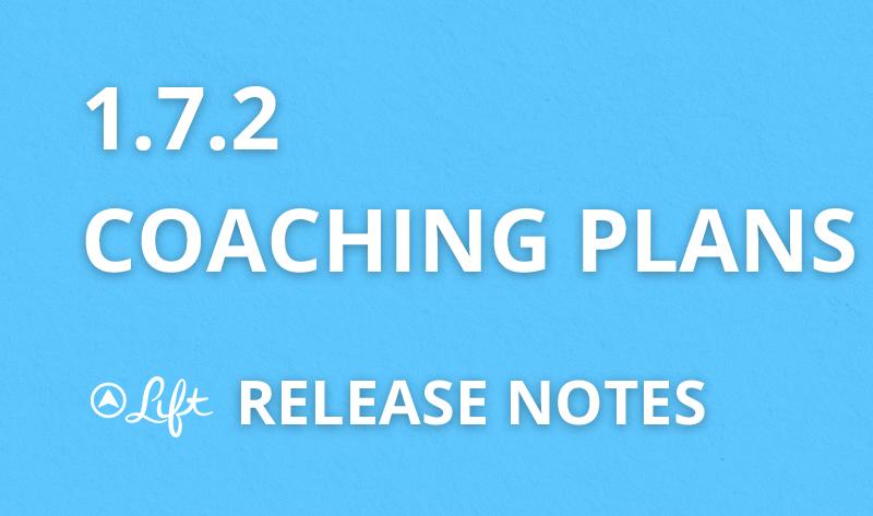 1.7.2 — Coaching Plans
