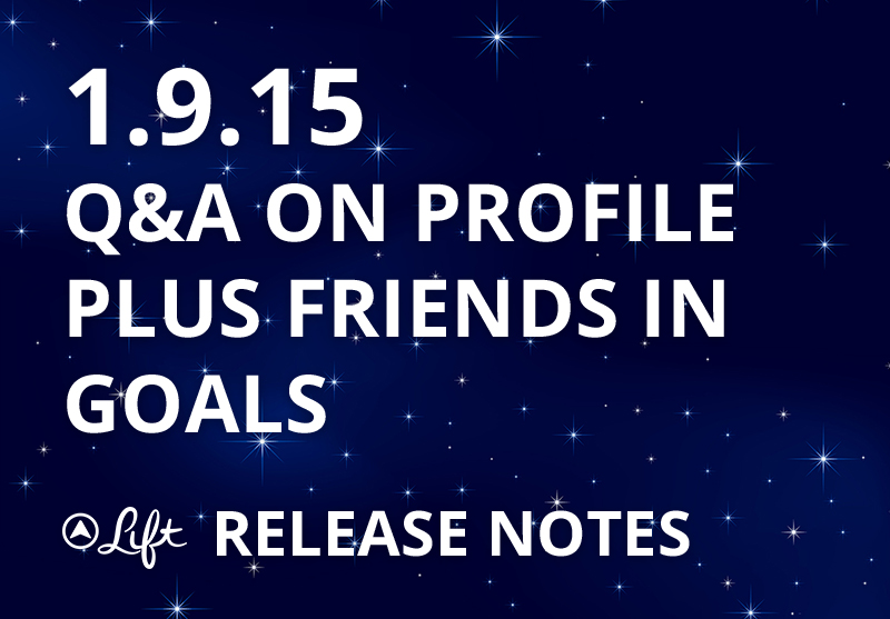 1.9.15 – Q&A On Profile, Plus Friends In Your Goals